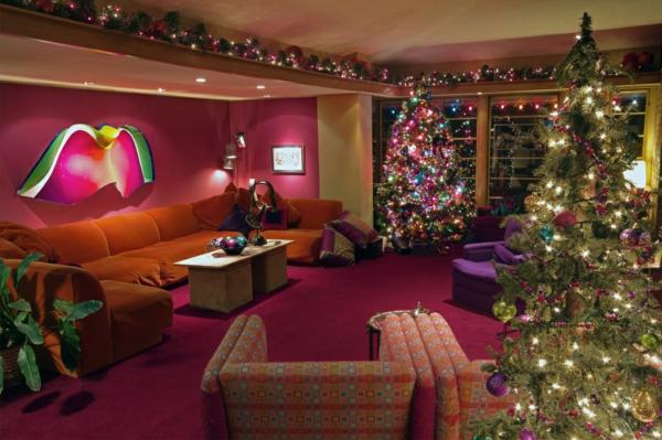 großartige Wohnideen für Weihnachtsdekoration texturen samt rosa orange
