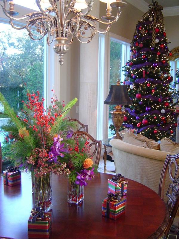 großartige Wohnideen für Weihnachtsdekoration tisch holz