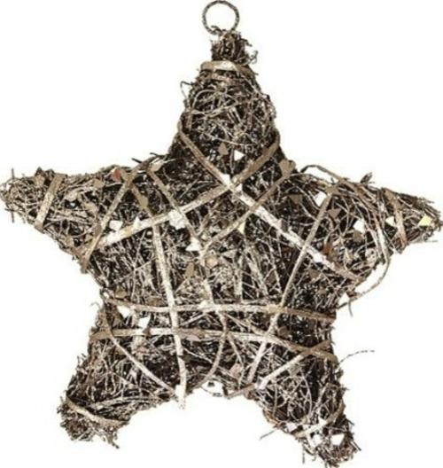 christbaum spitze geflochtener stern aus rattan