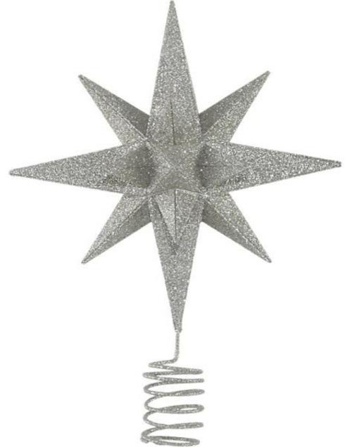 christbaumspitze glitzer stern