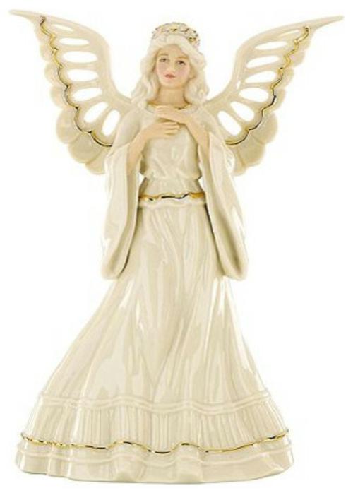 christbaum spitze porzellan engel