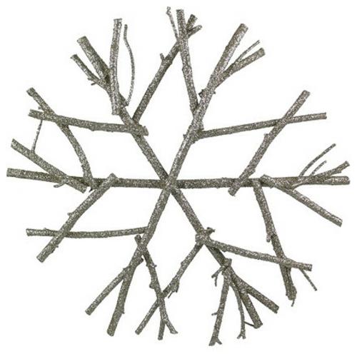 christbaum spitze silberglänzender schneekristall