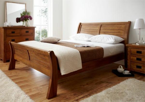 coole Betten im Kolonialstil fabelhaft schlittenbett natürlich holz