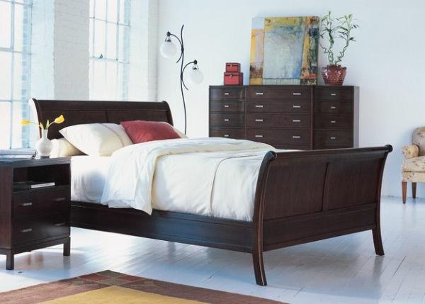 coole Betten im Kolonialstil gepolstert bettwäsche schlitten form