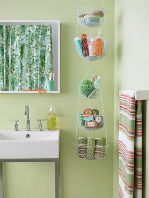 coole Einrichtung fürs kleine Badezimmer aufbewahrung idee