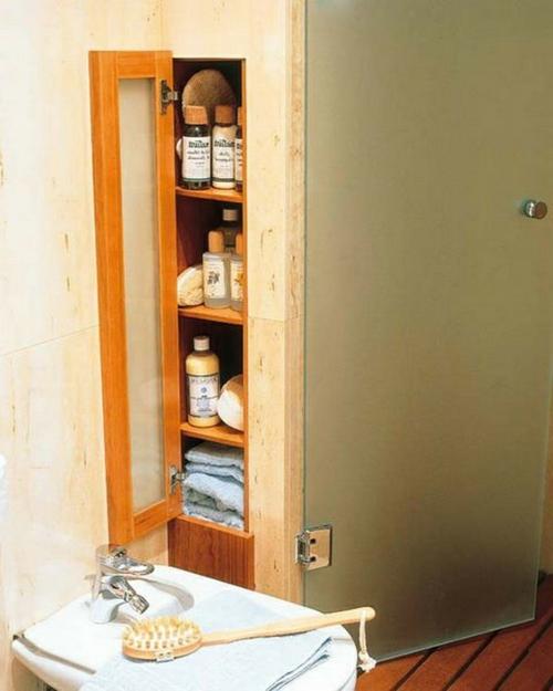 coole Einrichtung fürs kleine Badezimmer aufbewahrung organisation