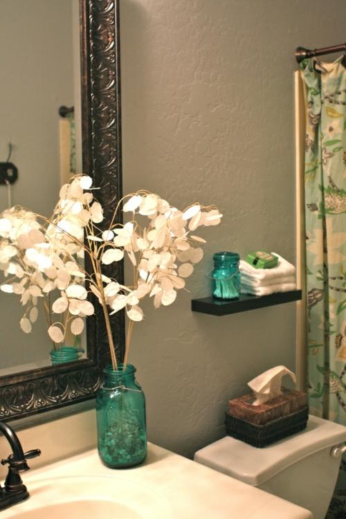 tricks fürs kleine Badezimmer grün einweckglas
