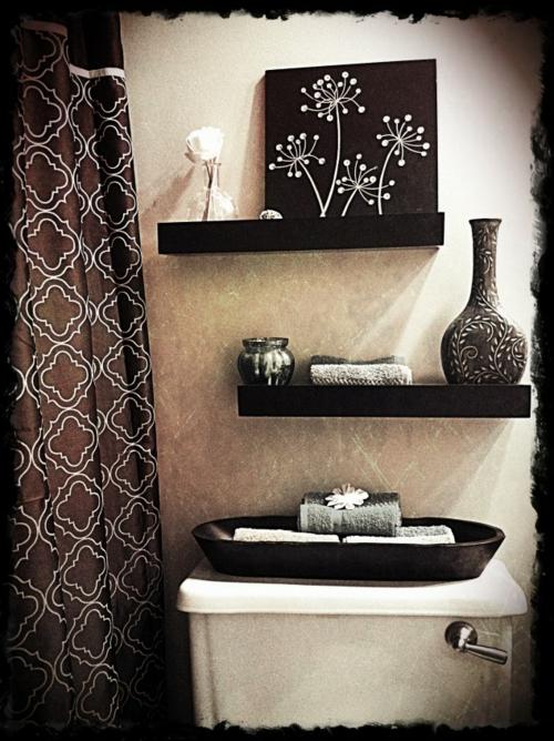 coole Einrichtungsideen fürs kleine Badezimmer tücher waschbecken
