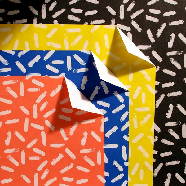coole inneneinrichtung in bunten farben papier muster