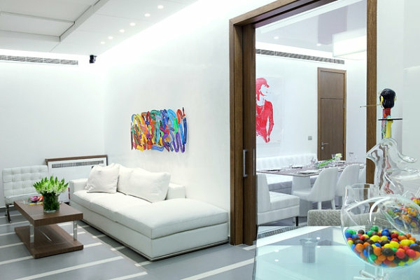 inneneinrichtung in bunten farben weiß sofa wohnzimmer