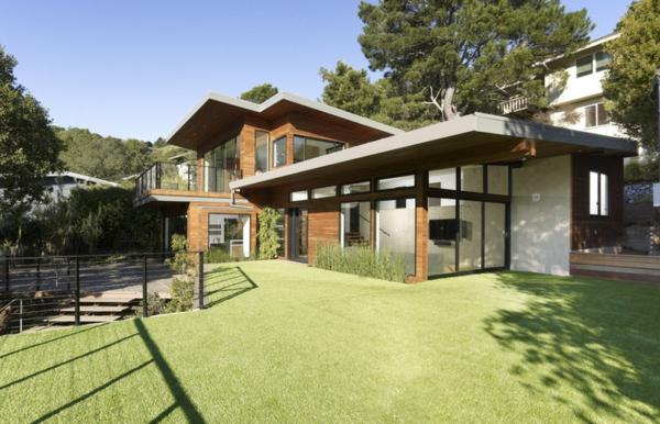 dachbegrünung künstliches gras und bambos