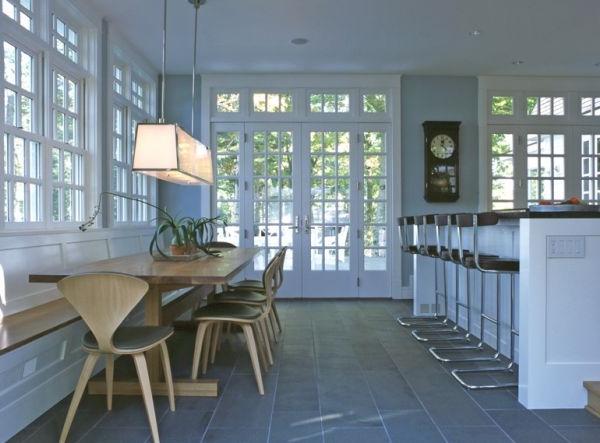designer stühle eklektische küche