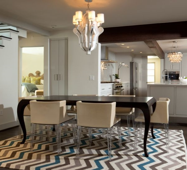 teppich unter esstisch grosse mbel ideen und home design - Teppich Unter Esstisch