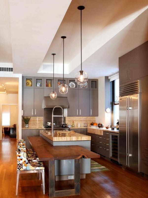 designer stühle kücheninsel mit extra holz arbeitsplatte
