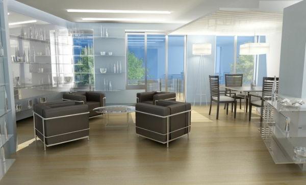 designklassiker moderne stühle lc2 in dunkelbraun