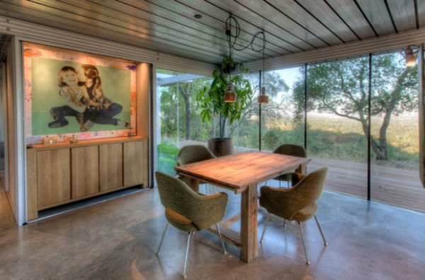 designklassiker rustikales flair panorama fenster