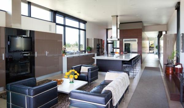designklassiker schwarzleder sessel und couch