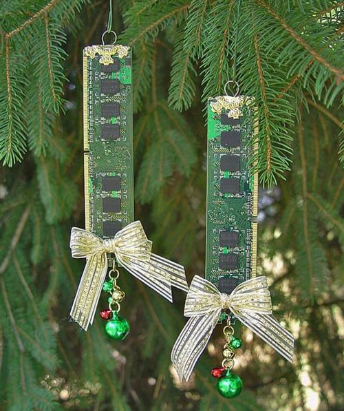 diy weihnachten ornamente computer festplatten