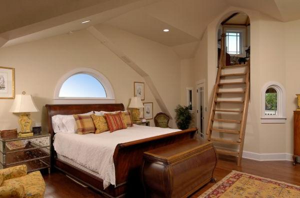 eigenartig schlafzimmer leiter privat dachwohnung