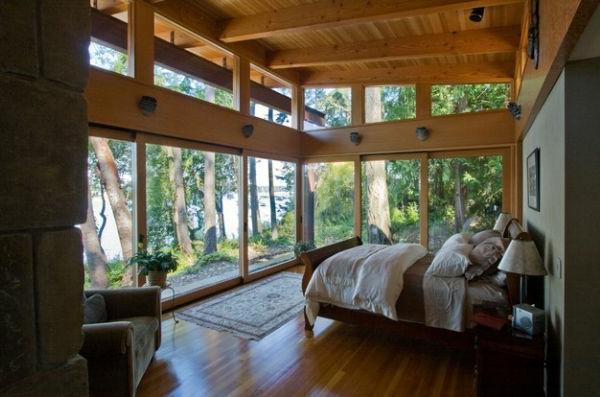 entzückend see blick elegant schlittenbett schlafzimmer