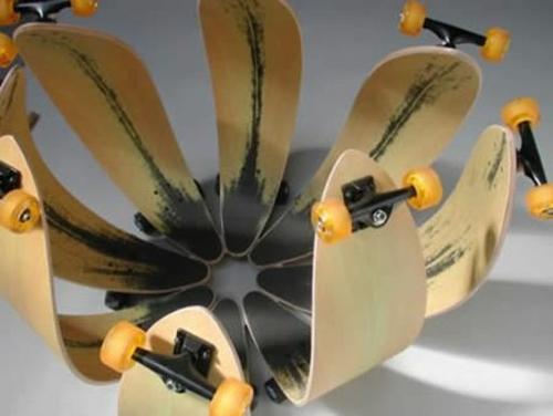 skateboard erzeugnisse diy dekorativ blume - Skateboard Bank Beine