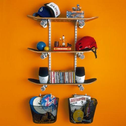 Erstaunliche Skateboard Erzeugnisse  19 DIY Wohnideen