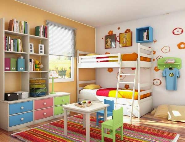 etagen bett buntes kinderzimmer design