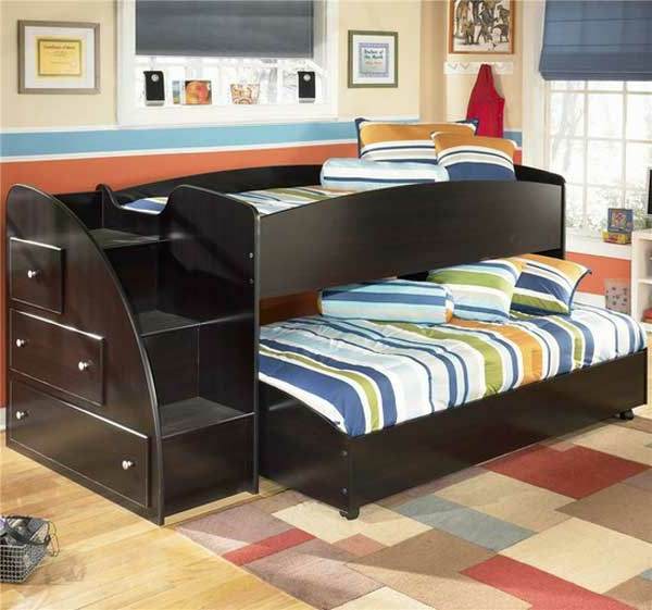 etagenbett 30 funktionelle ideen wie sie mehr platz. Black Bedroom Furniture Sets. Home Design Ideas