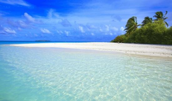 exotisch Niyama Beach resort sand weiß palmen klar wasser