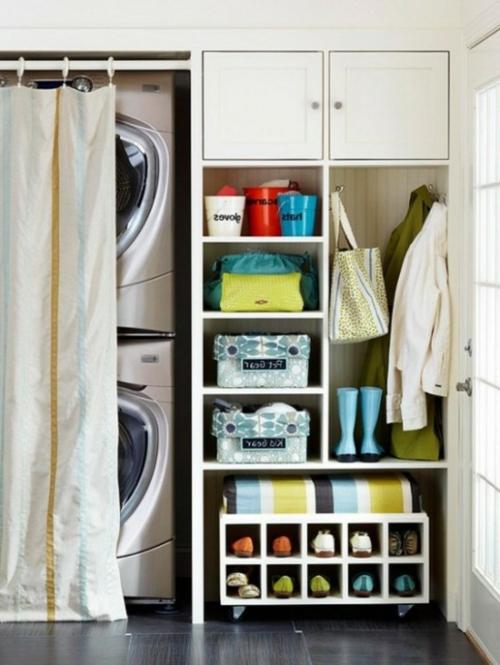 flur gestaltung waschmaschine und wäschetrockner