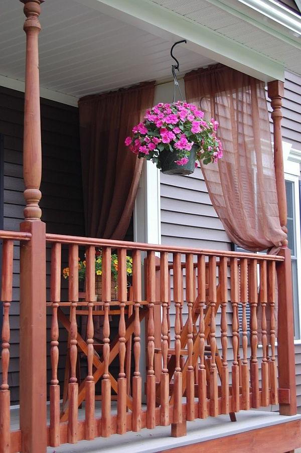 gardinen und vorhänge dekorvorhänge in terrakotta farbe