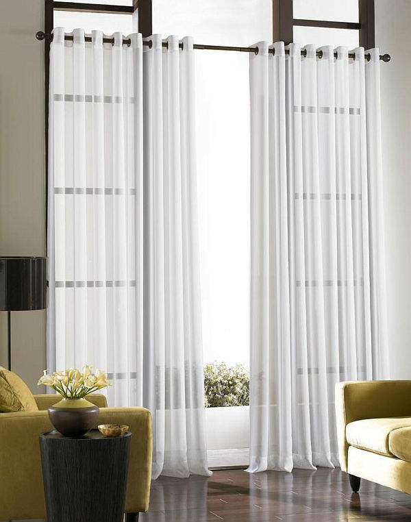gardinen und vorhänge elegant und durchsichtig in weiß
