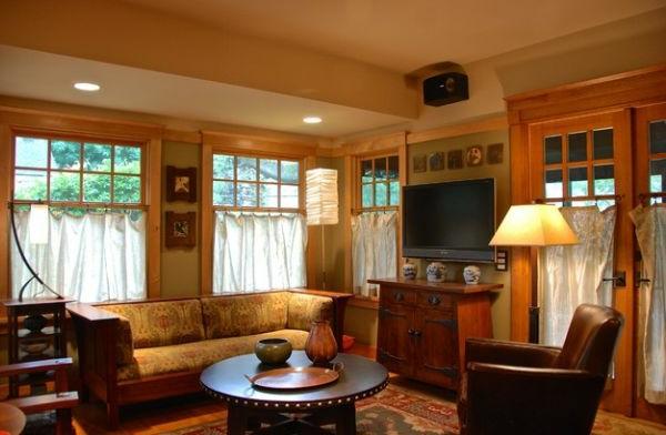 gemütlich wohnzimmer design warme beleuchtung femster tisch