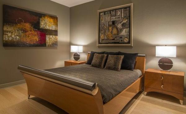 gemütliches schlafzimmer warm entspannend farben