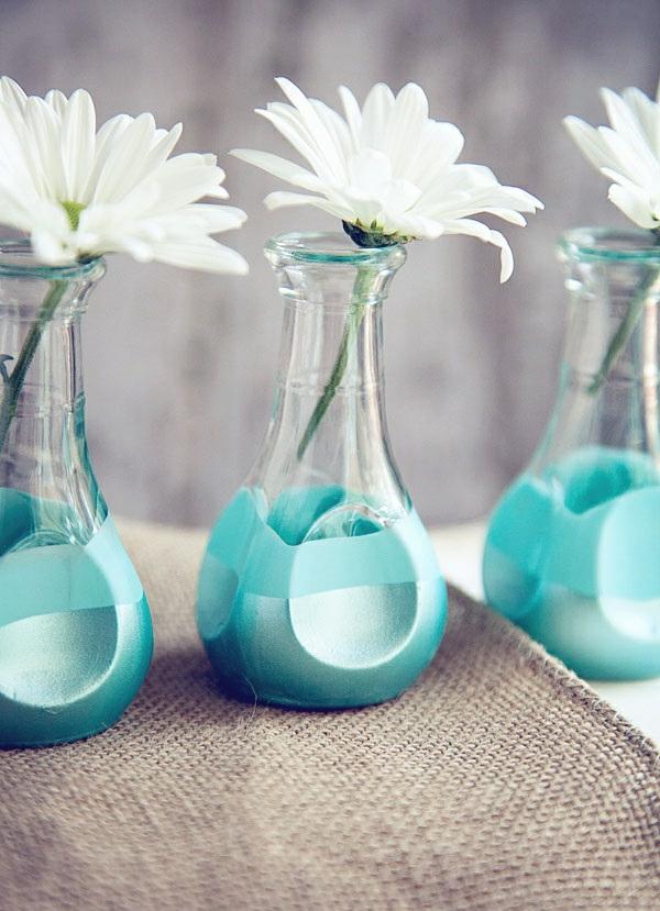 wohnzimmer deko türkis:türkis deko wohnzimmer : Glasvasen dekorieren wie Sie mehr Farbe zu
