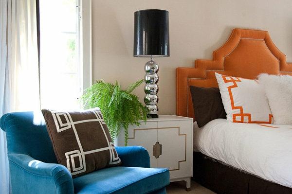 heimwerken tischleuchte mit  lackiertem lampenschirm und silbernem lampenfuß