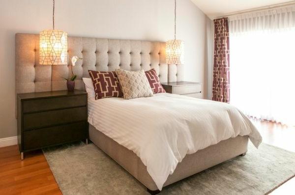 hoch modern schlafzimmer hotel übergroß kopfteil gepolstert