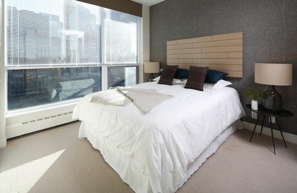 interessantes kopfteil cool kontrast schlafzimmer