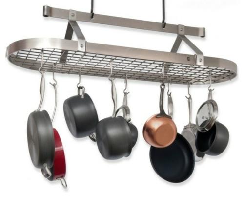 küchen arbeitsflächen hängendes geschirrgestell