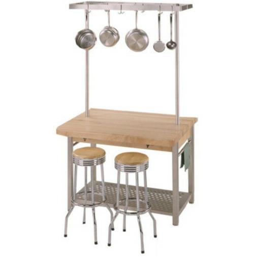 küchen arbeitsflächen kücheninsel aus hellem holz und stahl