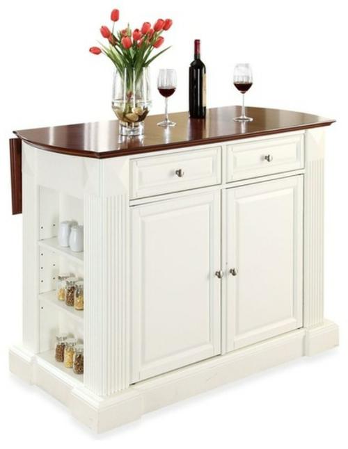 küchenarbeitsflächen kücheninsel in weiß mit viel stauraum