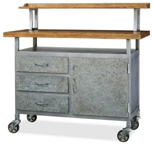 küchenarbeitsflächen küchenwagen mit schubladen auf rädern