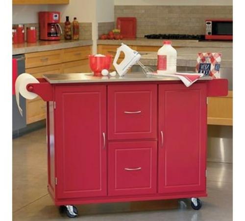 küchenarbeitsflächen pinker küchenwagen