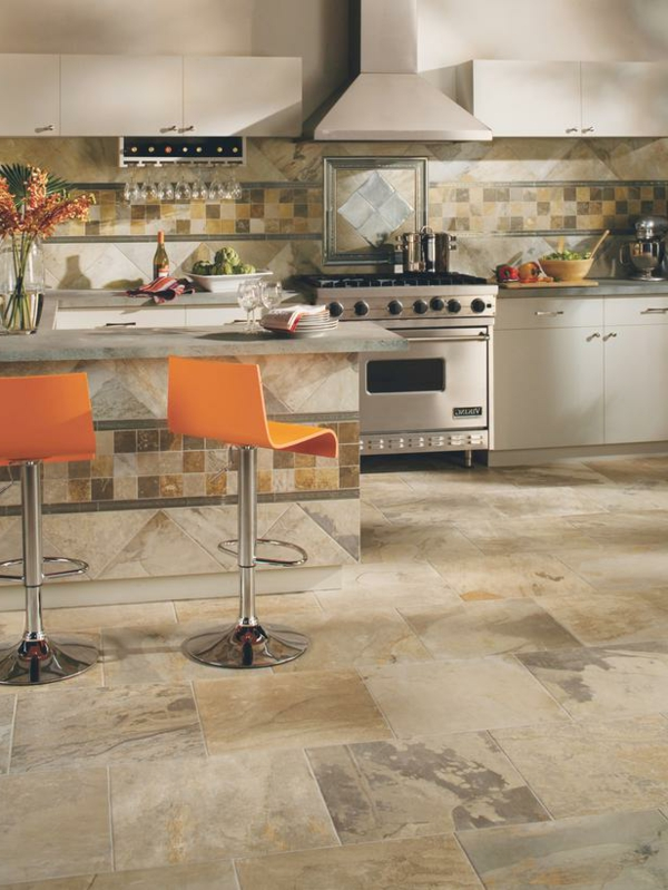küchen boden bodenfliesen aus bedrucktem beton