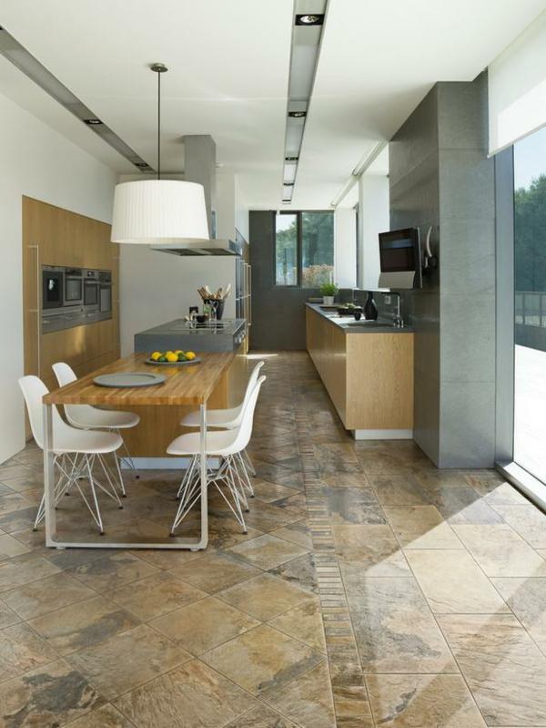 küchenboden fliesen fein gemustert natur optik