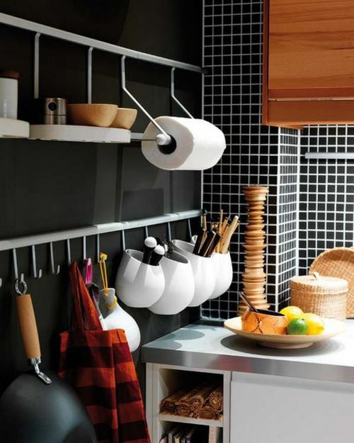 küchenideen aluminium haken