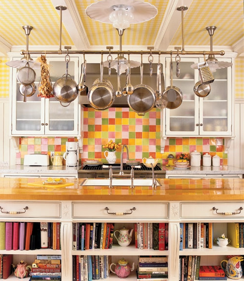 küchen ideen geschirrstange