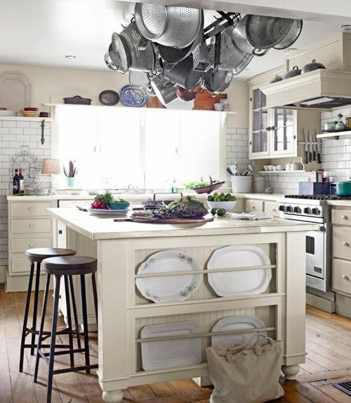 küchen ideen hängende geschirrablage