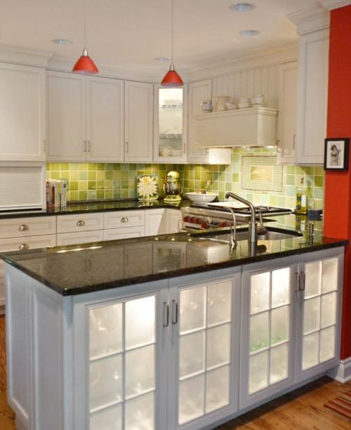 küchenideen kücheninsel mit marmor arbeitsfläche