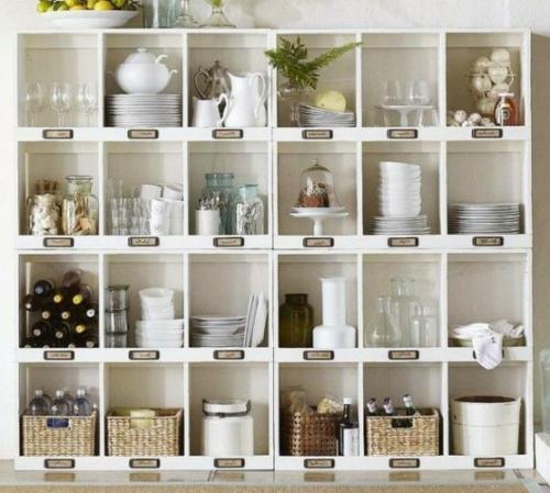 küchen ideen regal mit überschriften